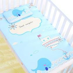 婴儿凉席冰丝宝宝凉席夏季婴儿床凉席新生儿童小孩幼儿园席子枕头