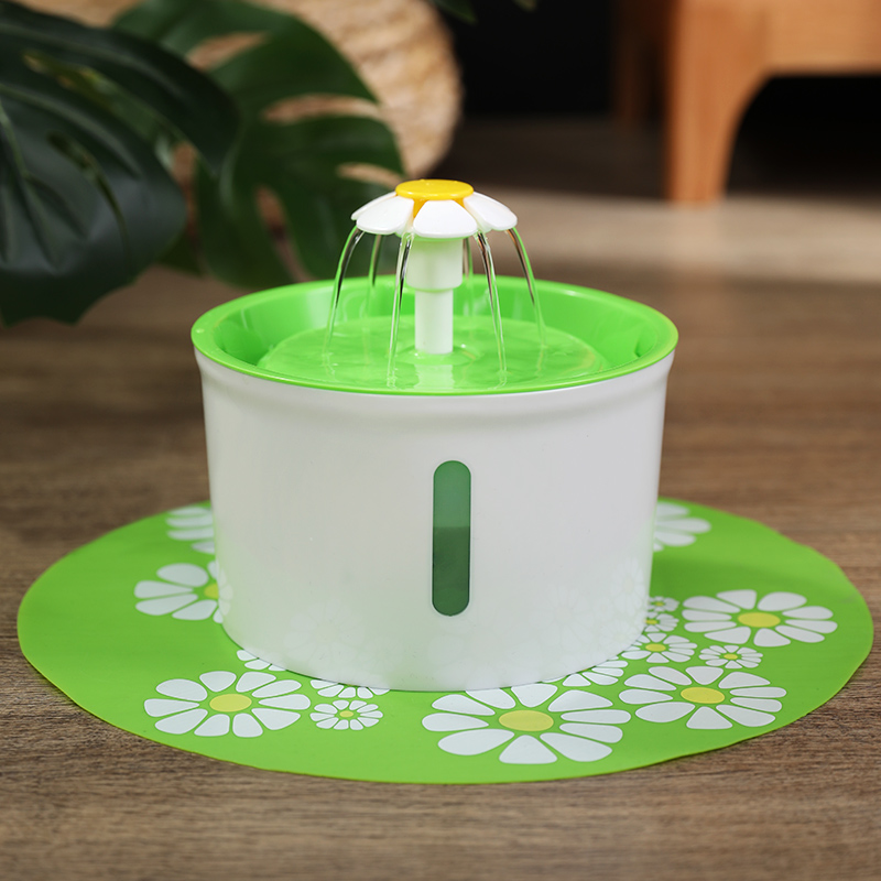 2 Generations Can See Small Flowers - Green (buy One Get 3: Small Flower Fountain + Filter + Non-slip Mat)