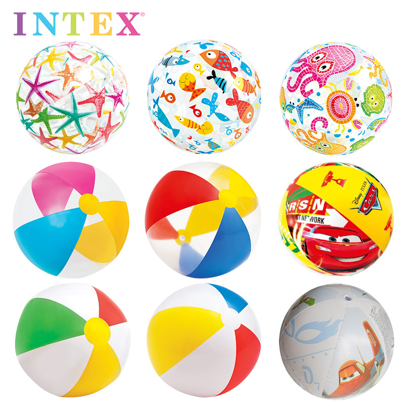 INTEX младенец пляжный мяч пляж мяч ребенок купание игрушка ребенок надувные мяч BB ребенок купание мяч