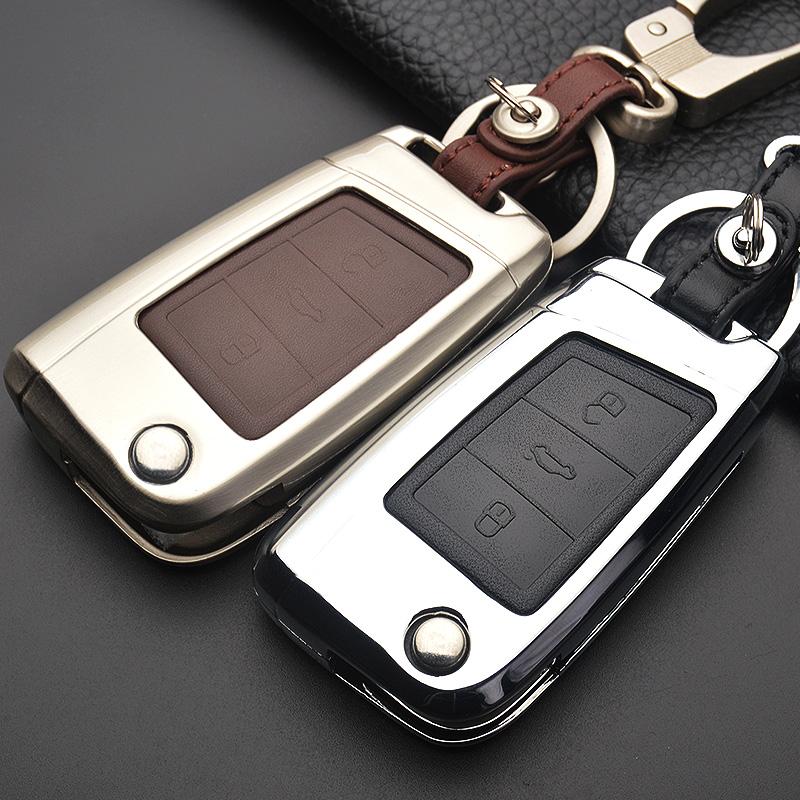 2018款大众新迈腾b8钥匙包途观L专用真皮帕萨特车钥匙套壳改装扣