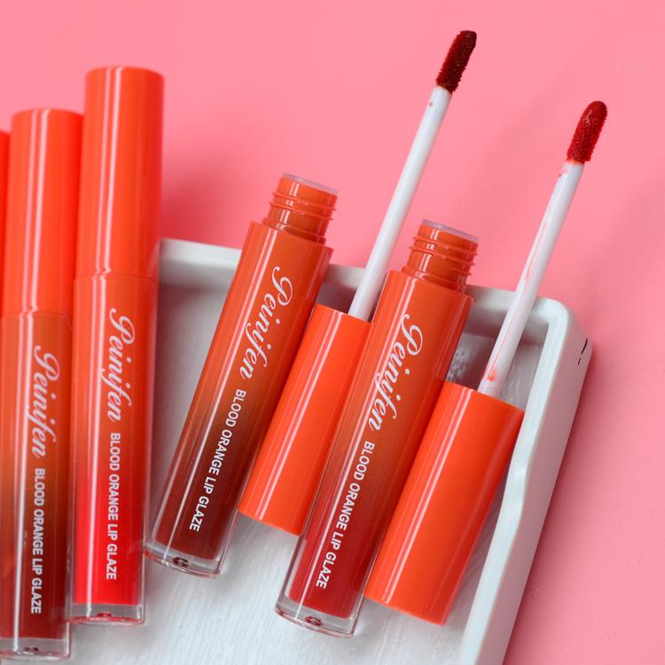 Penifin trang điểm máu cam môi son môi lỏng giữ son bóng giữ ẩm retro đỏ trang điểm sinh viên - Son bóng / Liquid Rouge