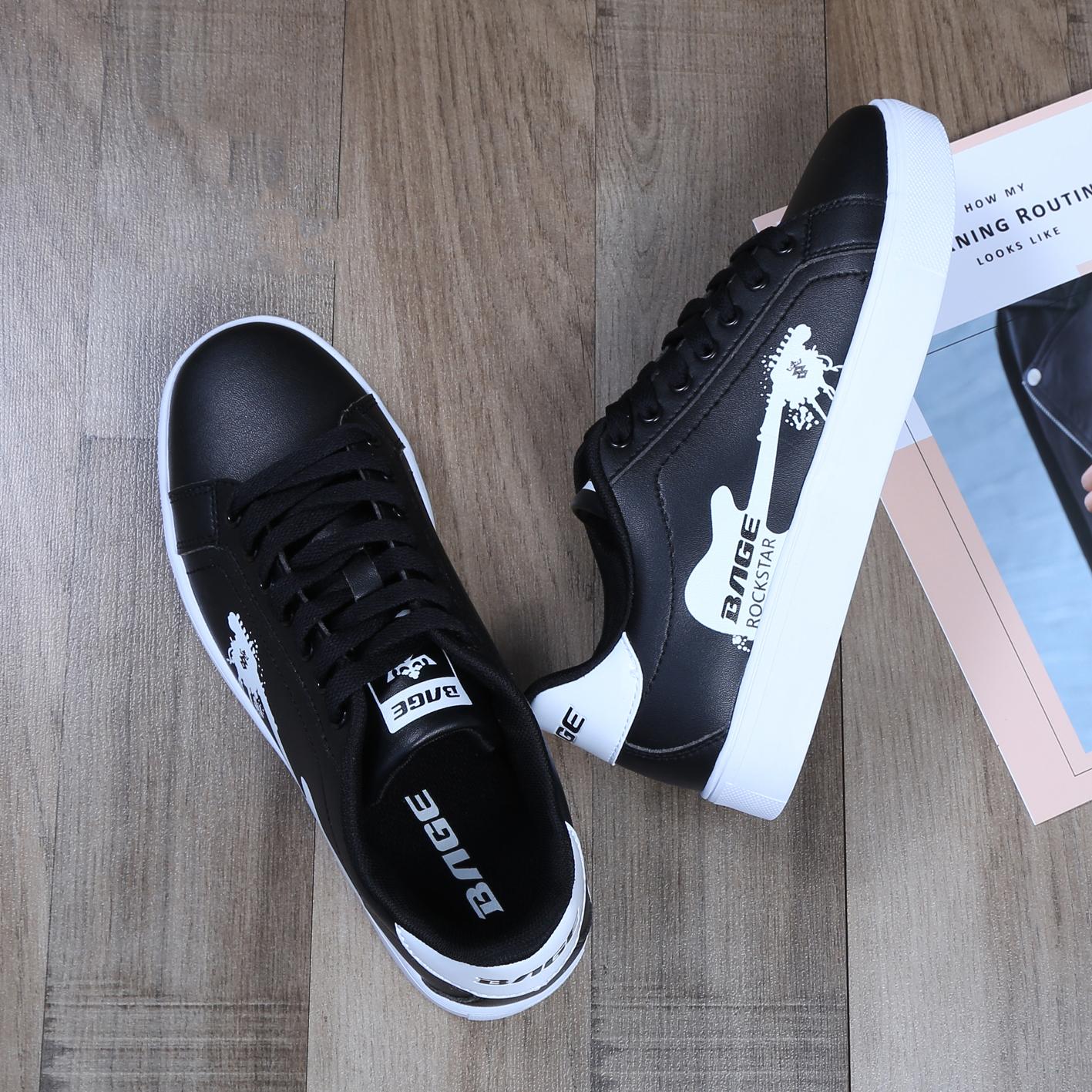 鞋子八哥滑板板鞋夏季v鞋子休闲鞋韩版百搭黑色低帮平底男鞋女鞋