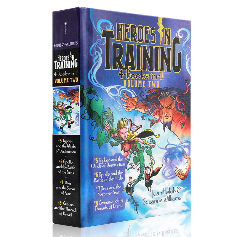 English Original Novel Heroes in Training 4-Books-in-1 Volume Two Olympic Heroes 4 Story Collection Zeus Hardcover