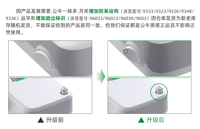 公牛插座转换器插排插板不带线一转二三多功能家用插头分插器插座详细照片