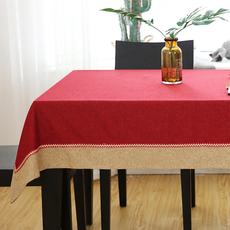 Mới Trung Quốc Khăn trải bàn màu đỏ Lễ hội mùa xuân Trung Quốc Năm mới Hình chữ nhật Khăn trải bàn Redwood Bàn cà phê Bàn ăn Vải Phong cách Trung Quốc - Khăn trải bàn