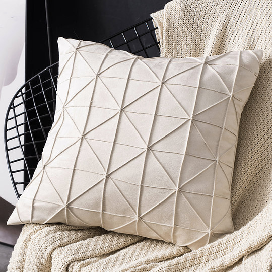 Nordic style solid color 45x45 cushion cover pillow pillow model room light luxury cushion pillow case without core square
