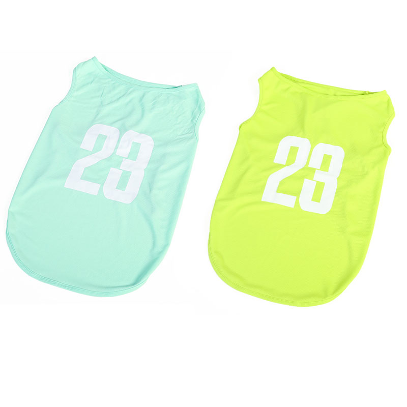 (2 PIECES 39 YUAN SPECIAL SHOT OPTION   GREEN + SKY BLUE) 23 SPORTS VEST WITHOUT SLEEVES