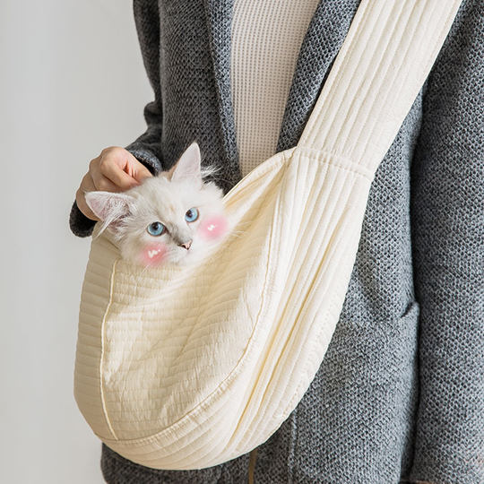 Cat Bag Go Out Carrying Bag Pet Backpack Canvas Single Shoulder Go Out Portable Cat School Bag Dog Backpack Pet Supplies