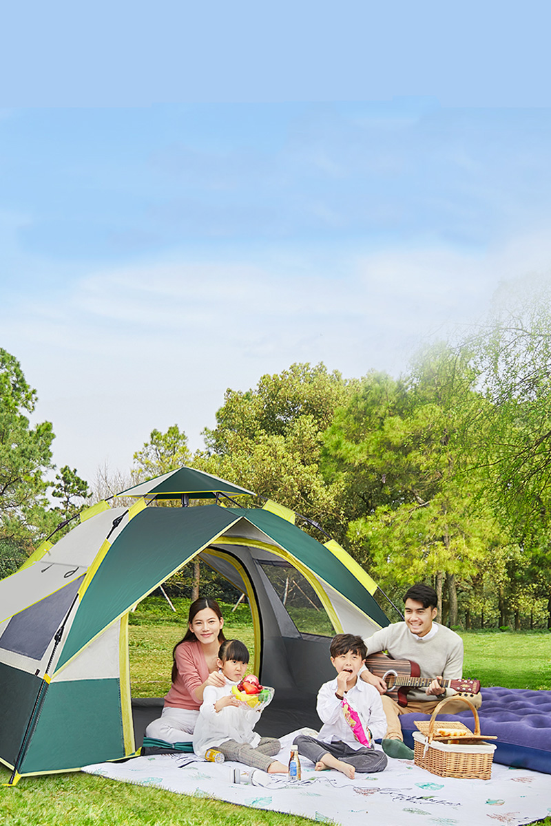 Antarctic tent outdoor portable foldable camping thickened rainproof automatic pop-up camping picnic children
