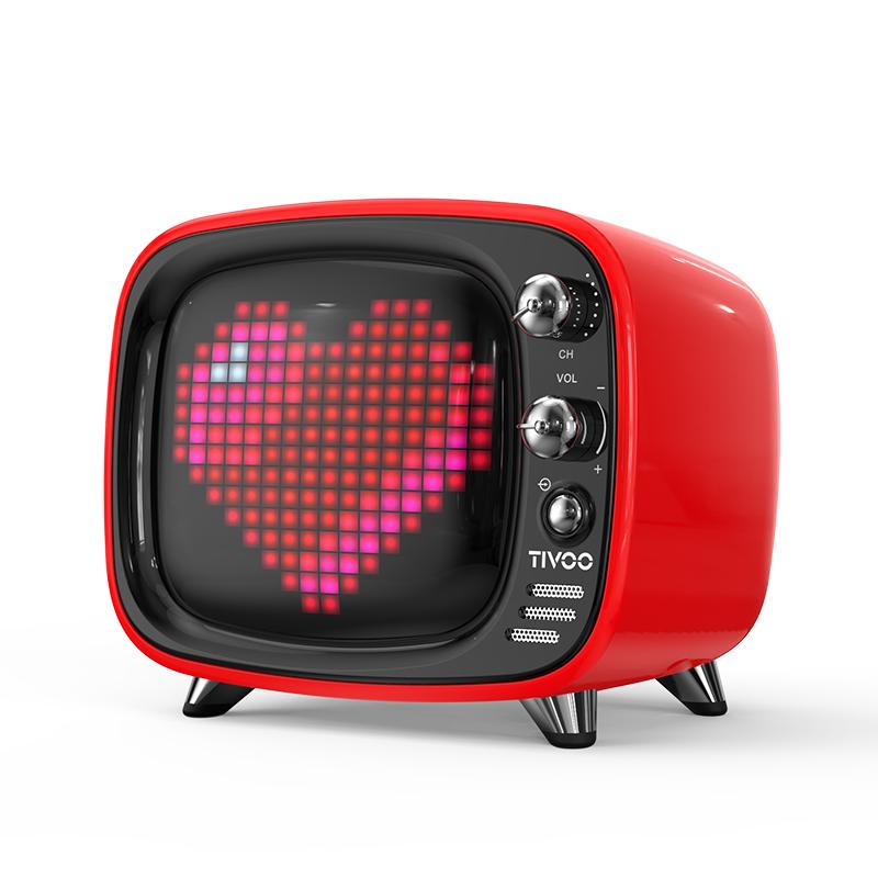 地纹像素电视蓝牙小音箱,网红抖音礼物送女友
