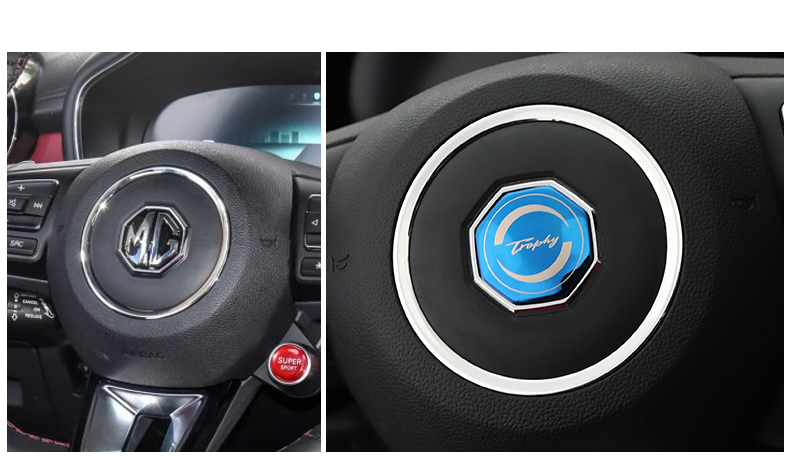 Ốp logo 3D trước sau và vô lăng xe MG HS 2021 - ảnh 12