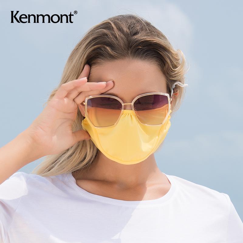 卡蒙夏季薄款防晒口罩女凉感透气防紫外线户外骑行遮阳可喝水口罩