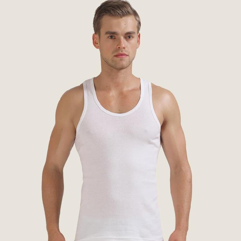 Đồ lót nam vest cotton nam bóng rổ lớn dành cho người lớn vai rộng tay áo sơ mi mỏng nam vest sinh viên - Áo vest cotton