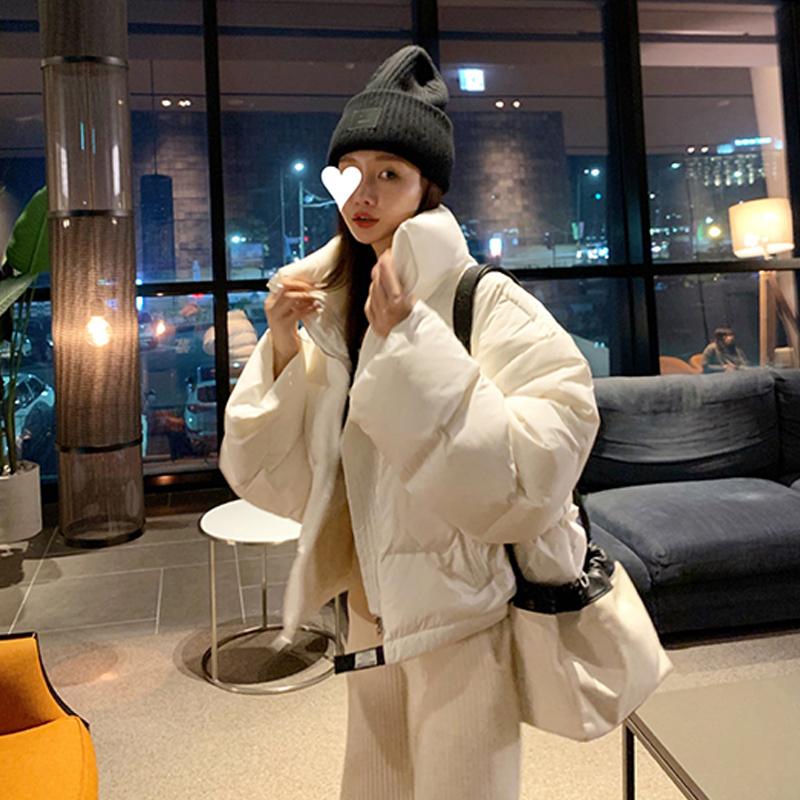 鬼鬼家 韩国代购东大门新款正品 冬时髦洋气短款羽绒服外套