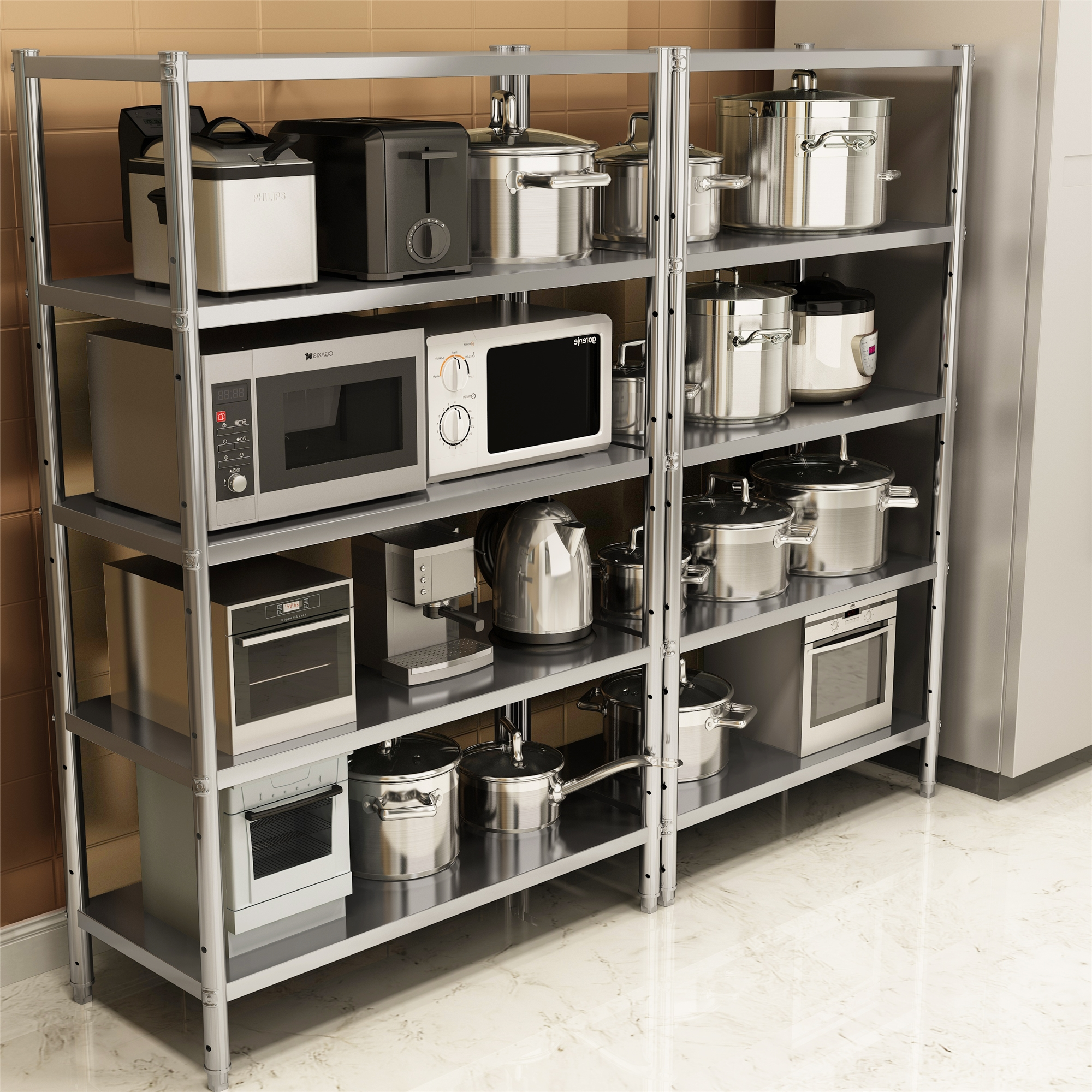 Usd 81 09 Stainless Steel Kitchen Shelf Floor Multi Layer Shelf Shelf Rack Storage Shelf Shelf Storage Rack 5 Thin Floor Wholesale From China Online Shopping Buy Asian Products Online From The