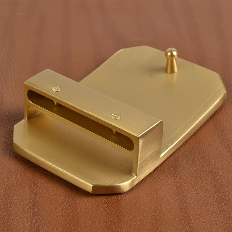 黄铜纯铜a黄铜扣男士配件腰带头板扣实心皮带尾夹裤带头扣头40mm