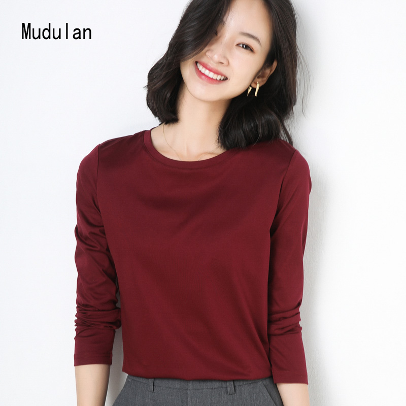 【拍2件】牧都兰新款秋季纯棉长袖T恤