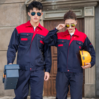 Long-sleeved overalls set men's spring and autumn factory workshop auto repair
