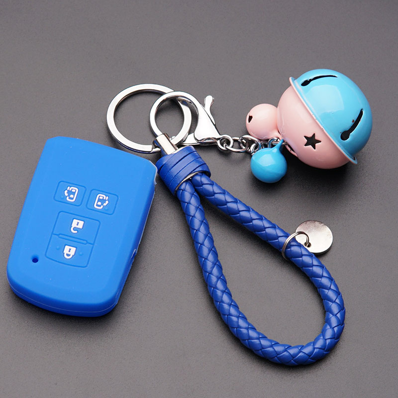 Blue Silicone + Blue Buckle + Pink Blue Bell