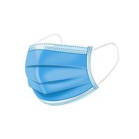 隆钰一次性防护口罩三层含熔喷布防尘透气薄款夏季成人蓝色口罩