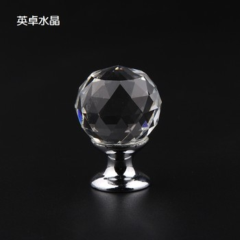 25mm crystal ball handle cupboard desk drawer furniture handle hardware accessories handle hot