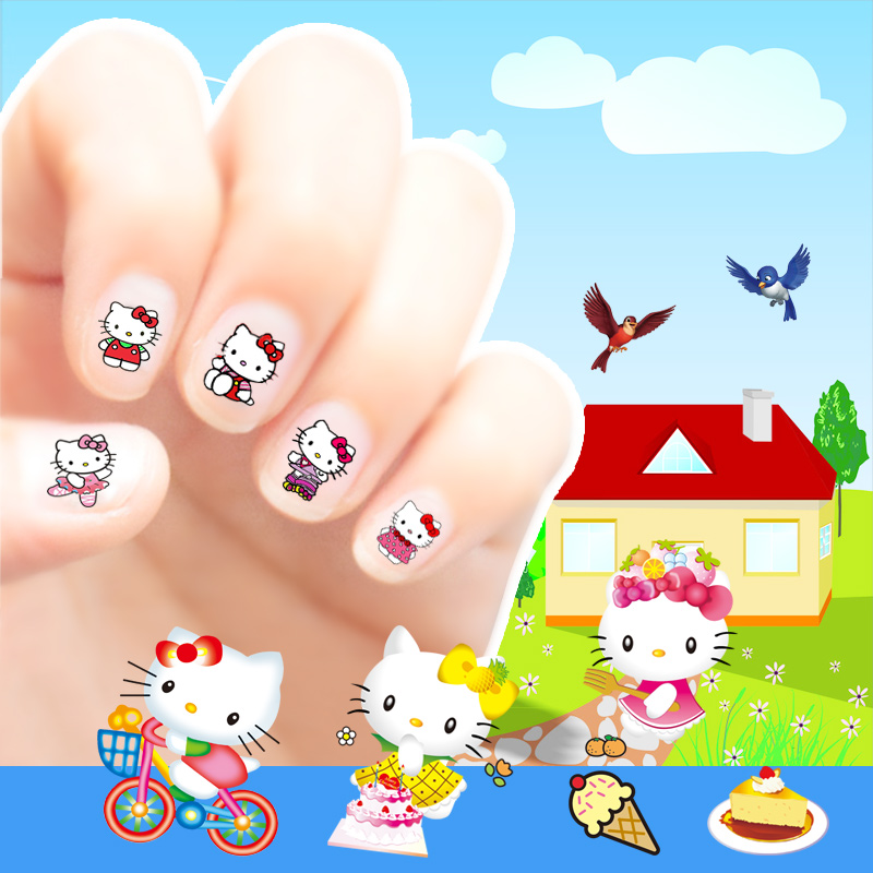 Kids cartoon nail stickers baby girl waterproof safe non-toxic nail ...