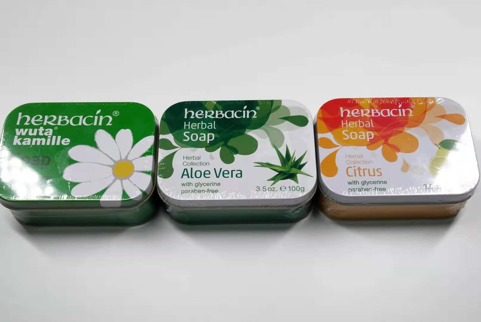 台湾购德国v肌肤Herbacin/贺本清小甘菊肌肤100g清洁保湿净白香皂