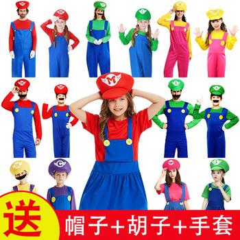 Хэллоуин одежда  cosplay одежда мультфильм животных переполнение ребенок марио одежда фестиваль супер - мэри одежда, цена 323 руб