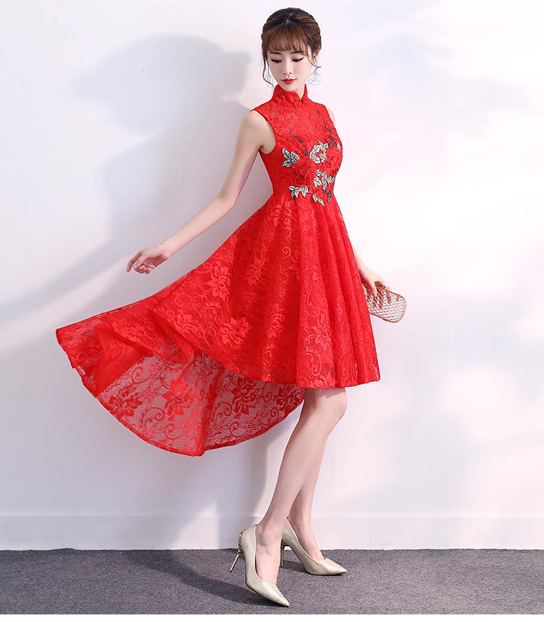 旗袍前短后长刺绣立领新娘礼服 - 1505147909 - 太阳的博客