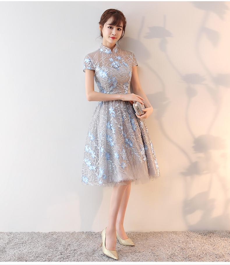 蕾丝立领旗袍礼服 - 1505147909 - 太阳的博客
