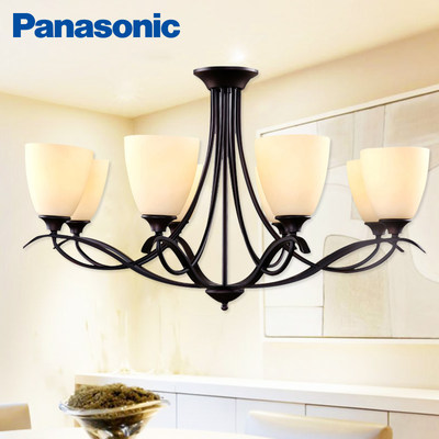 Panasonic minimalist American flower lamp country wrought iron branch chandelier retro living room lamp restaurant lamp HH-HM8004