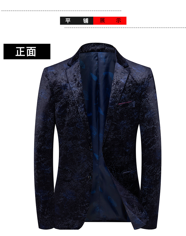 Autumn and winter gold velvet suit jacket male Korean version slim small suit British wind business casual single Western top tide 50 Online shopping Bangladesh