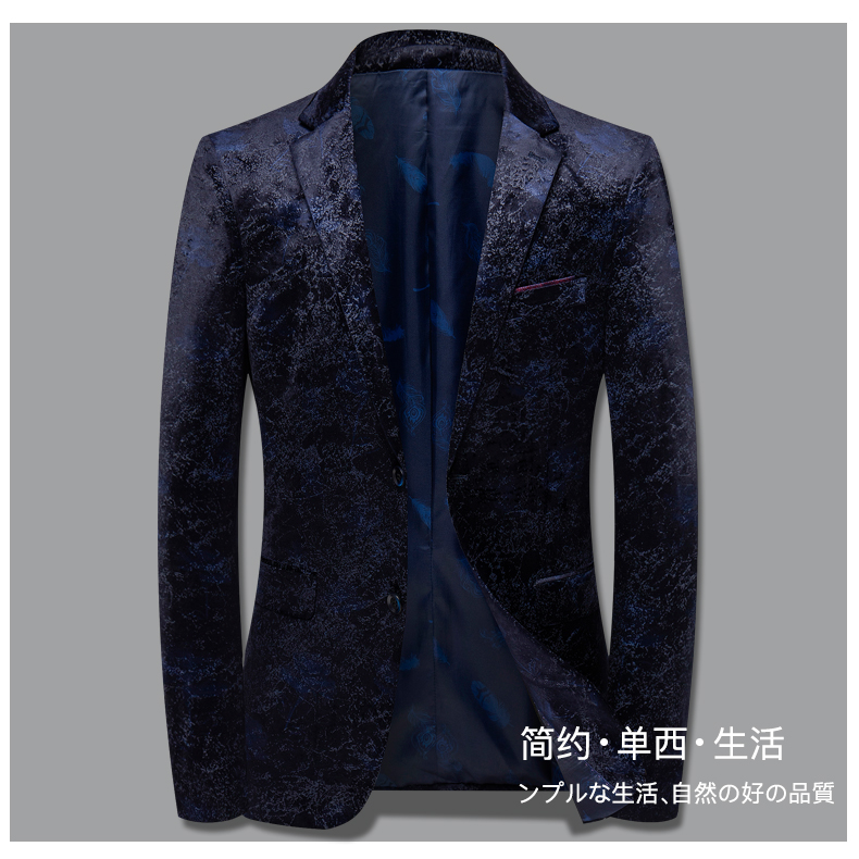 Autumn and winter gold velvet suit jacket male Korean version slim small suit British wind business casual single Western top tide 44 Online shopping Bangladesh