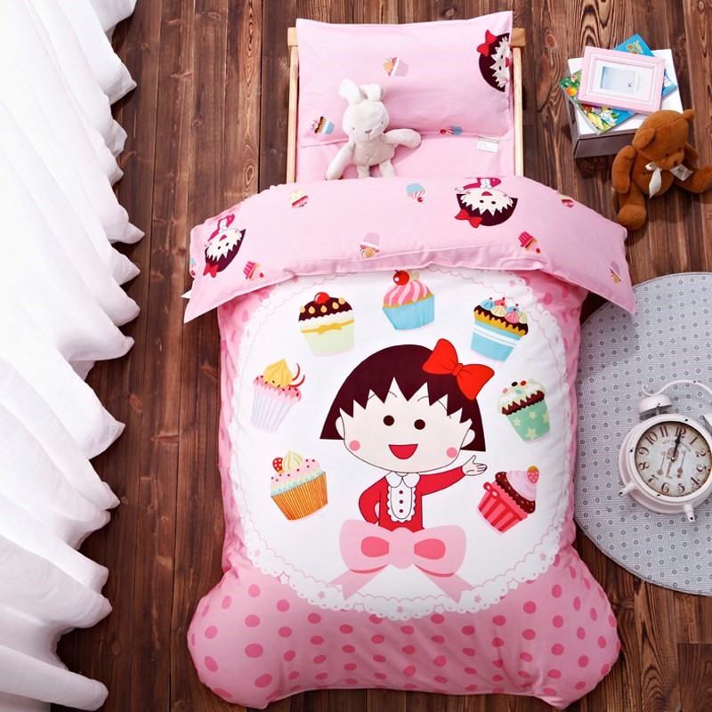 Kindergarten quilt three sets of cotton core baby into the garden bedding set children's bed nap bedding six
