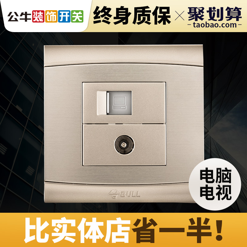 category:Computer + TV socket,productName:Bull switch socket type 86 ...