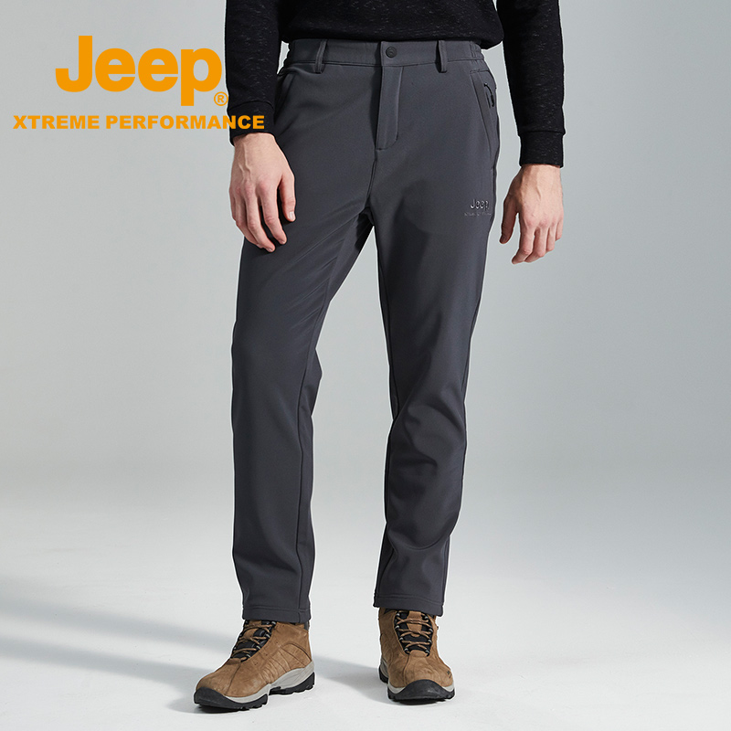 jeep flag 艦 shop official genuine jeep outdoor soft shell pants wind-proof warm breathable wear climbing velvet pants tide