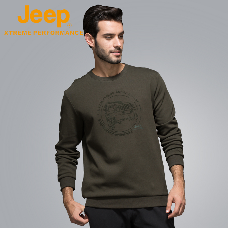 Jeep flagship store official genuine Jeep men's autumn jacket long-sleeved T-shirt sweater with a t-shirt bottom edire.