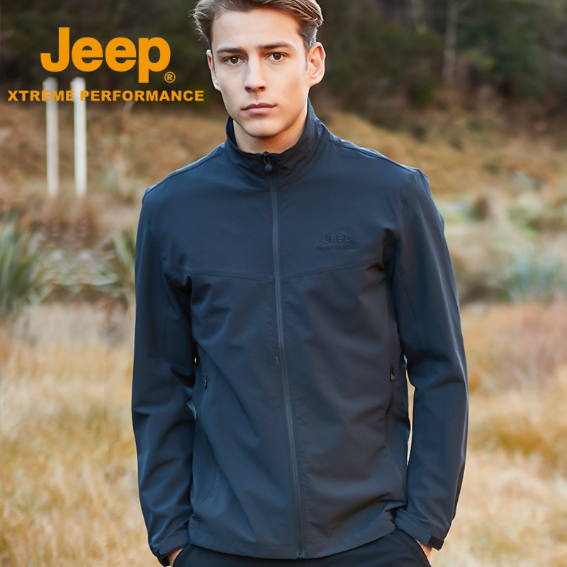 jeep flagship store official authentic Jeep jacket male autumn and winter thin baseball suit handsome loose trend casual jacket