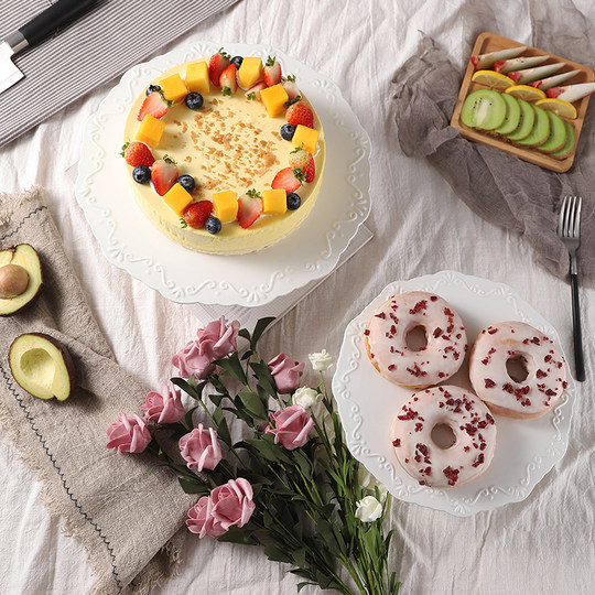 Jane European ceramic tall cake tray Western-style dessert fruit shelf afternoon tea tray dessert display set