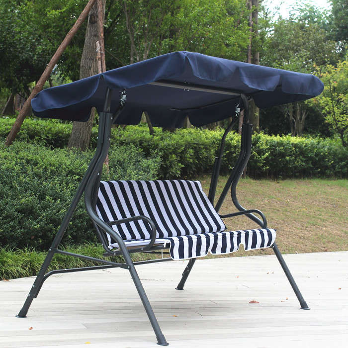 Usd 68 14 Double Swing Three Swing Stripes Color Swing Chair Garden