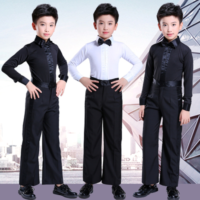 Boys Latin Dance Dress Children's Shirts Competition Dress Standard Professional Grade Examination Dress Regulation Children's Performance