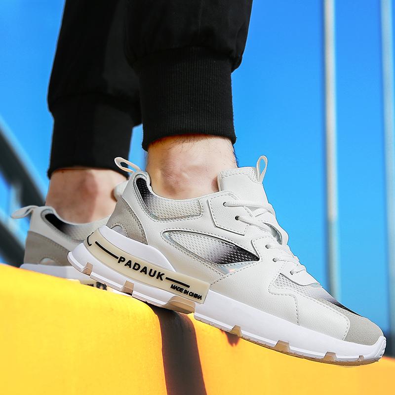2020夏季新款男士老爹鞋透气网布韩版潮流男鞋百搭厚底低帮休闲鞋