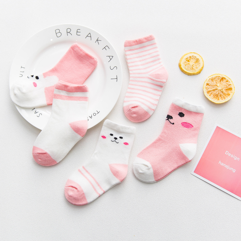 Pink Rabbit 5 Pairs (mesh Section)