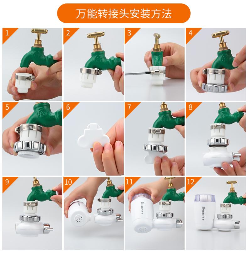【店長推薦】 水龍頭凈水器家用自來水過濾器非直飲機廚房前置濾水器凈化器