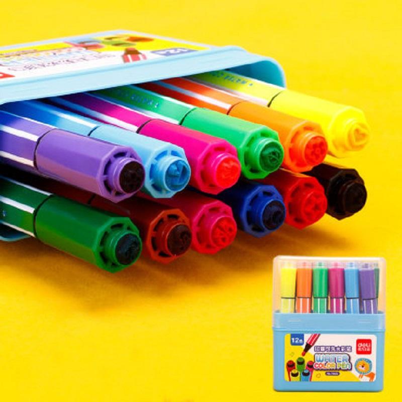得力水彩笔儿童印章可水洗水彩笔 开发孩子天赋