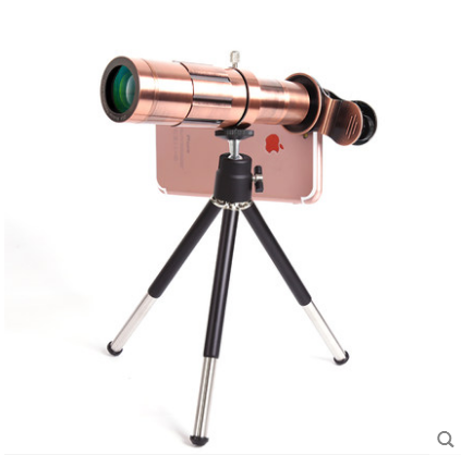 20 Times Telephoto + Metal Collar Clip   Red Copper Color  To Send Anti-shake Bracket