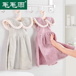 Hand towel hanging type cute Korean hand-embroidered handkerchief absorbent towel is softer than pure cotton kitchen towel cloth