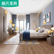 Lin của đồ nội thất hiện đại giường gỗ nội thất phòng ngủ giường đơn 1.8 m giường giường đôi kết hợp nhà DV1A