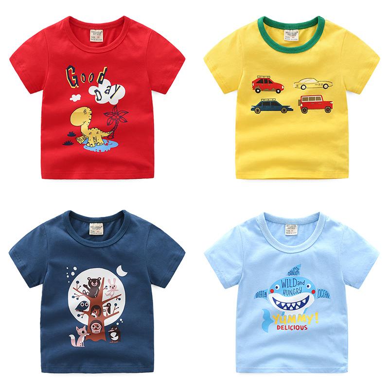 童装宝宝夏装女童2018新款上衣潮3男童T恤短袖4纯棉儿童5岁打底衫