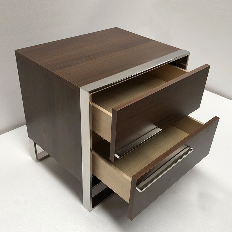 DEEP WALNUT COLOR + STAINLESS STEEL COLOR 500*400*500MM